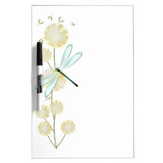 Dragonfly & Dandelions Dry Erase Board