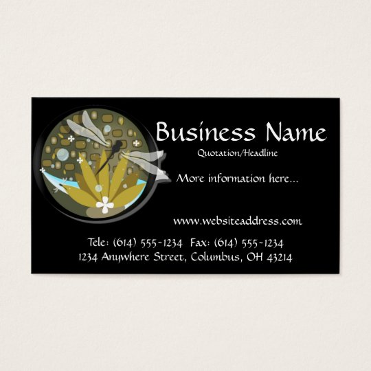 Dragonfly Design 2 Business Cards