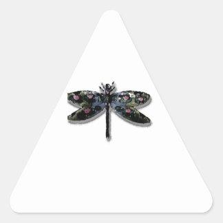 Dragonfly Design Triangle Sticker