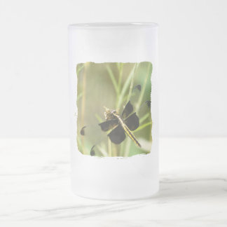 Dragonfly Dragonflies Frosted Glass Mug