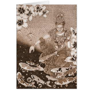 Dragonfly Dream VII (Listening to Peace) - Sepia Cards