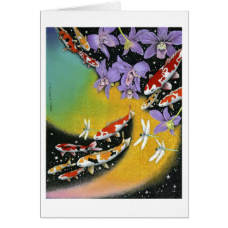 Dragonfly Dream VIII (Dawn in the Fish Pond) Card