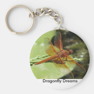 Dragonfly Dreams Basic Round Button Key Ring