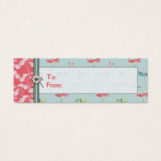 Dragonfly Dreams Boy Skinny Gift Tag Mini Business Card