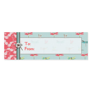 Dragonfly Dreams Boy Skinny Gift Tag Pack Of Skinny Business Cards