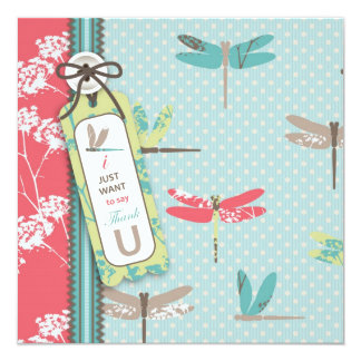 Dragonfly Dreams TY Square 13 Cm X 13 Cm Square Invitation Card