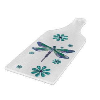 Dragonfly Elegant Jeweled Folk Art Cutting Board