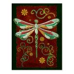 Dragonfly Elegant Jewelled 2 Folk Art