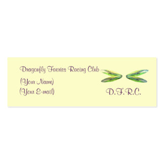 Dragonfly Faeries Racing Club Profile Card Double-Sided Mini Business Cards (Pack Of 20)