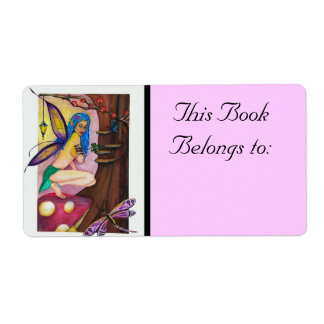 Dragonfly Fairy Book Label