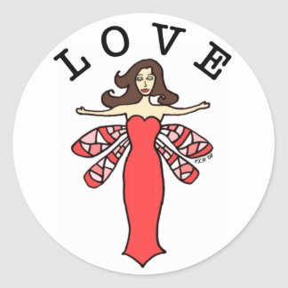 Dragonfly Fairy Love Stickers
