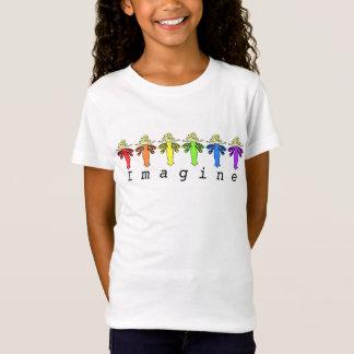 """Dragonfly Fairy Rainbow Colors """"Imagine"""" T-Shirt"""