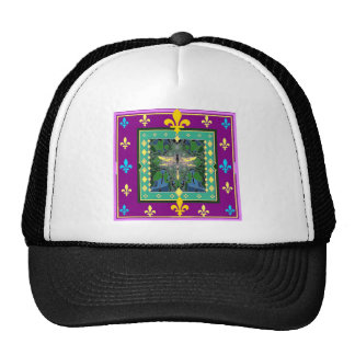 Dragonfly FLEUR DE LYS gifts by Sharles Art Mesh Hats