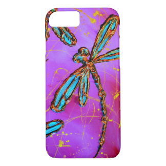 Dragonfly Flit Electric Pink iPhone 8/7 Case