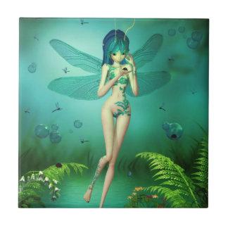 Dragonfly Flitters Ceramic Tile