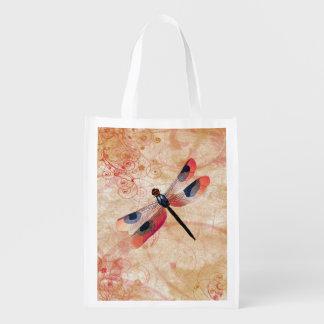 Dragonfly Flourish Reusable Bag