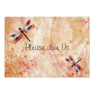 Dragonfly Flourish Wedding Invitation