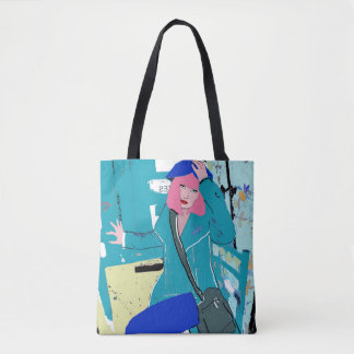 Dragonfly Girl Tote Bag
