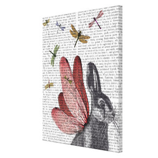Dragonfly Hare Canvas Print