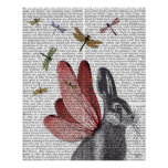 Dragonfly Hare Poster