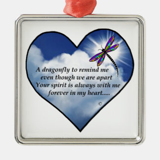 Dragonfly Heart Poem Christmas Ornament