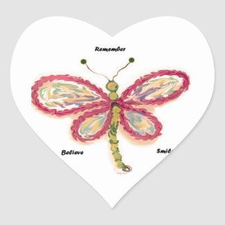 Dragonfly Heart Sticker