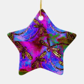 Dragonfly Hippy Flit Christmas Ornament