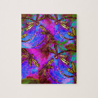 Dragonfly Hippy Flit Jigsaw Puzzle