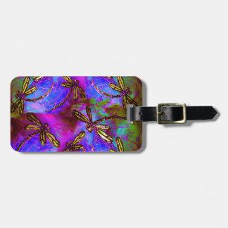 Dragonfly Hippy Flit Luggage Tag
