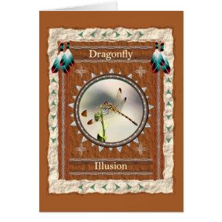 Dragonfly -Illusion- Custom Greeting Card