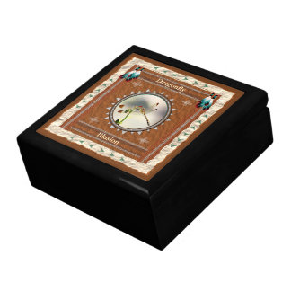 Dragonfly -Illusion- Wood Gift Box w/ Tile