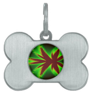Dragonfly in Flames Fractal Pet Tag