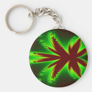 Dragonfly in flames Keychain
