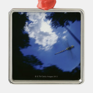Dragonfly in flight, flapping wings christmas ornament