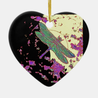 Dragonfly in Moonlight Design by Sharles Christmas Ornament