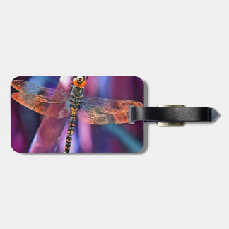 Dragonfly In Orange and Blue Luggage Tag
