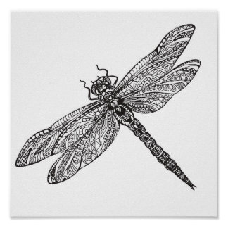 Dragonfly In Style 2 Poster