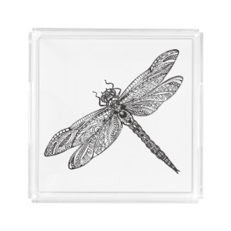 Dragonfly In Style Acrylic Tray