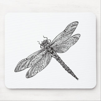 Dragonfly In Style Mouse Mat