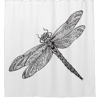 Dragonfly In Style Shower Curtain
