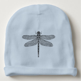 Dragonfly ink illustration baby beanie