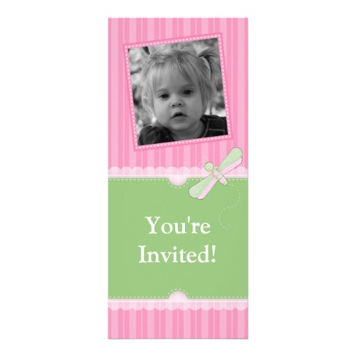 Dragonfly Lace Birthday Invitation