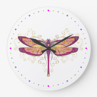 Dragonfly Large Clock