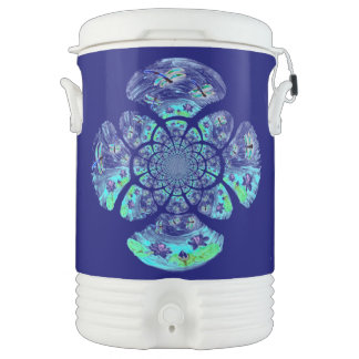 Dragonfly Lillies Flowers Pattern Cooler