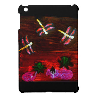 Dragonfly Lily Pond Abstract Art Case For The iPad Mini