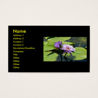 Dragonfly Lotus Business Card