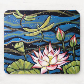 DRAGONFLY LOTUS MOUSE MAT