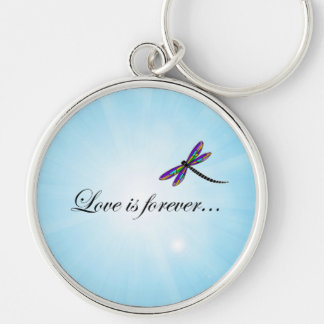 Dragonfly LOVE is Forever Key Chain