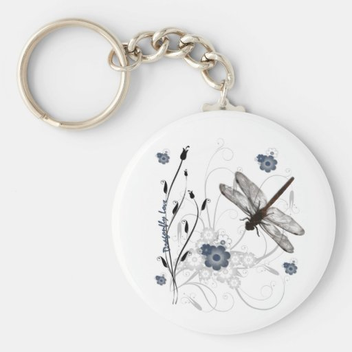 Dragonfly Love Keychain