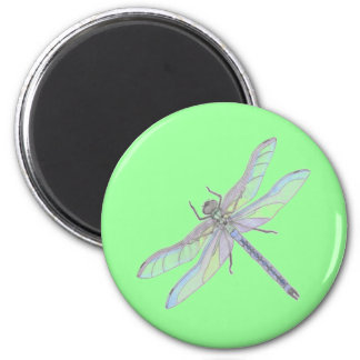 DRAGONFLY magnet (green) 2 Inch Round Magnet